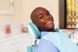 Happy male patient, well-prepared for dental implant surgery